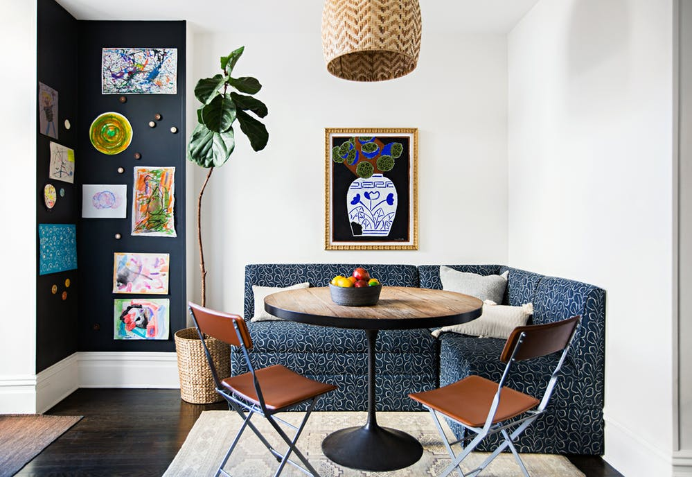 Optimize space and style with a chic pedestal table! via @apartmentherapy