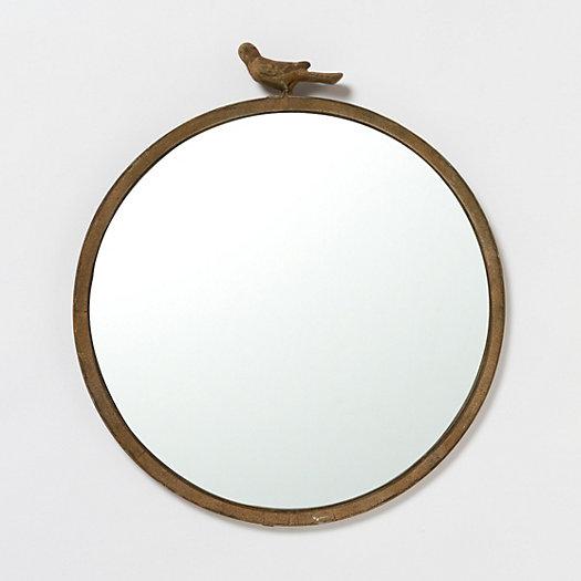 Antiqued Bird Wall Mirror