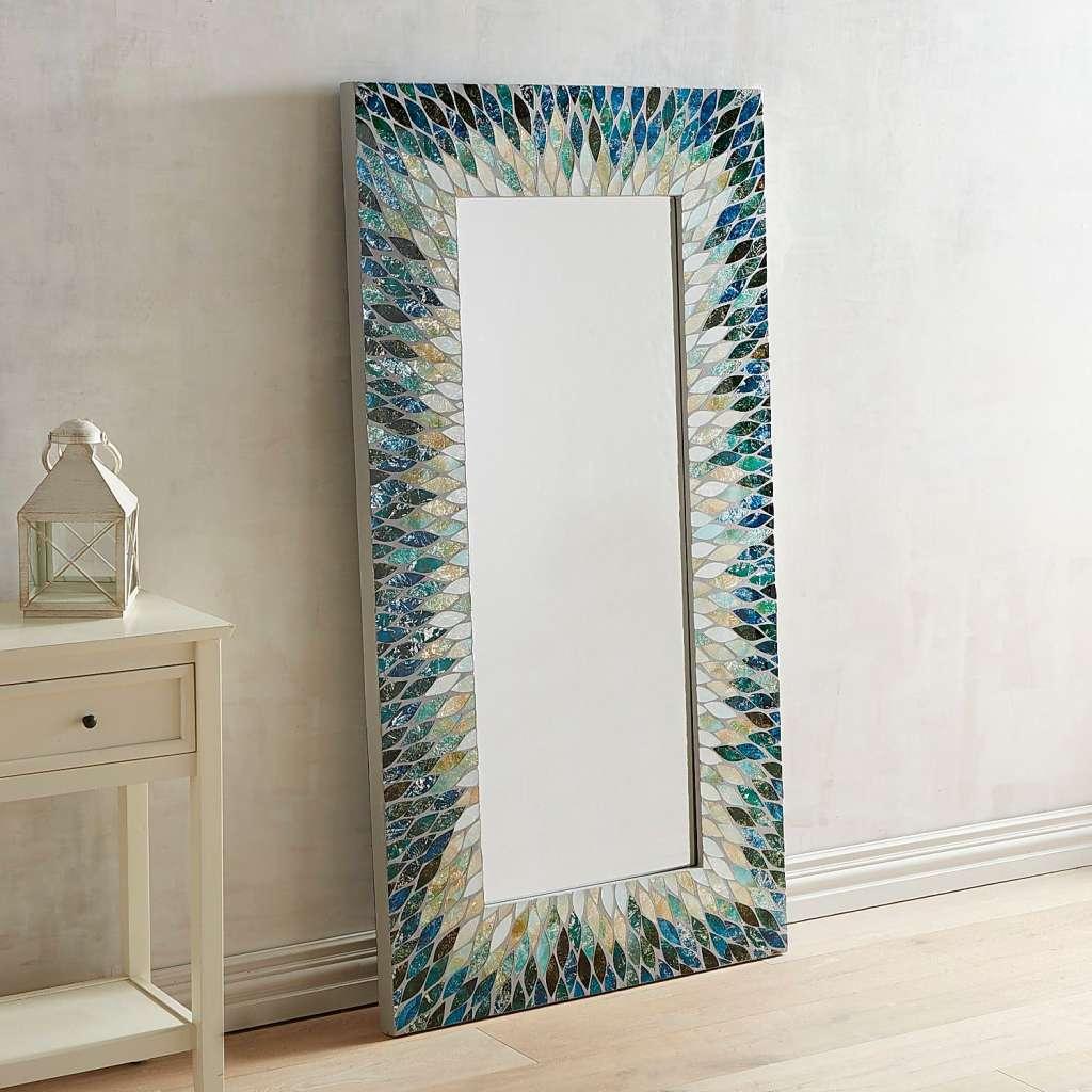 Cascade Mosaic Floor Mirror