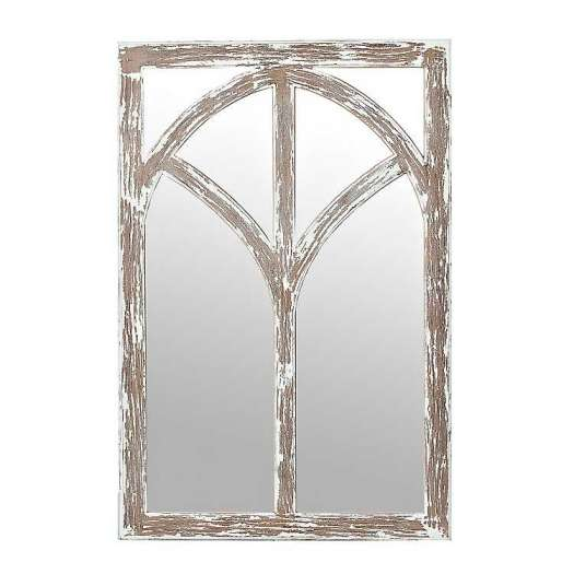 Distressed Arch Wooden Wall Mirror