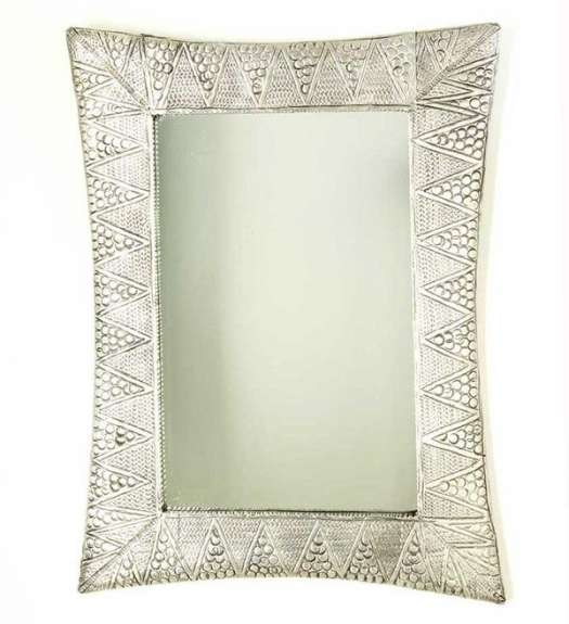 Embossed African Wall Mirror